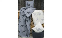Charcoal Stags Allover Deco Throw 130x200cm