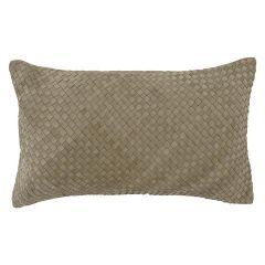 Leather Weave Bottega Cushion