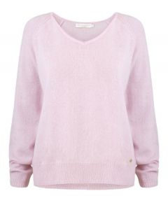 Lucie Vee Cashmere Sweater