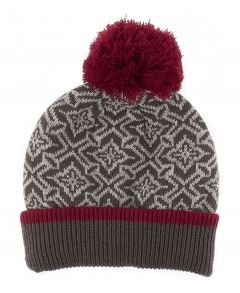 Nordic Pattern Beanie Charcoal