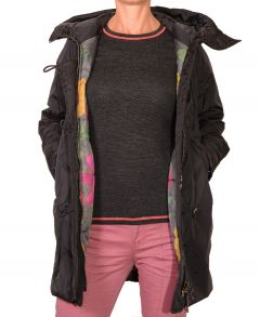 Parka with Flower Lining