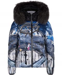 Pikh Ski Jacket with Fur Trim