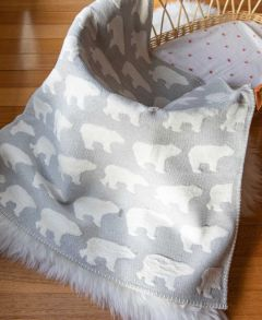Polar Bears Finn Bassinet Blanket