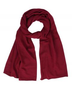 Rolled Edge Cashmere Scarf - Burgeois Red