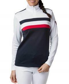 Womens Stripes 1/2 Zip Midlayer