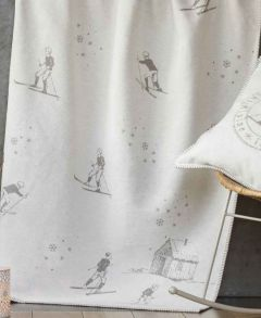 Grey Vintage Skier Sylt Throw 140x200cm