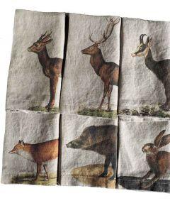 Wild Animals Linen Napkins (Set of 6)